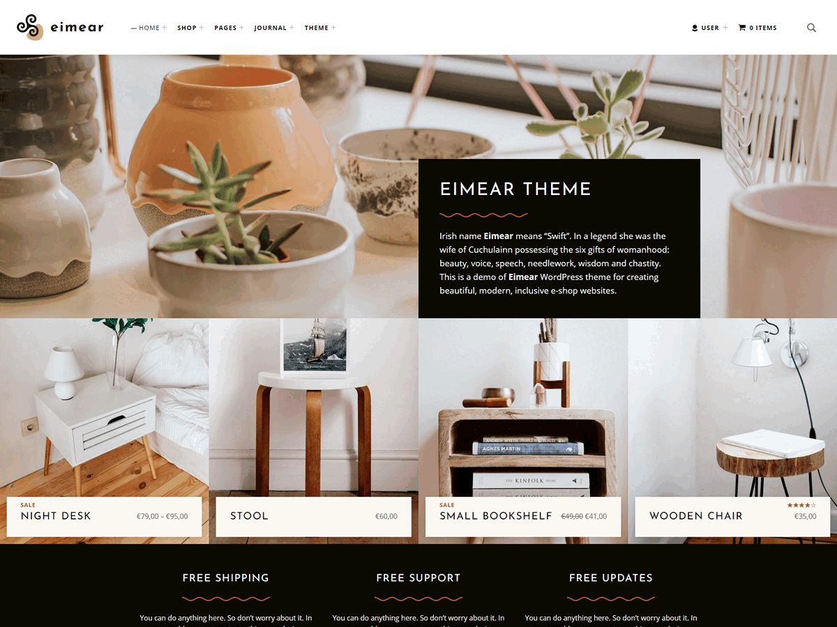 Eimear - Inclusive Accessible E-shop WordPress Theme