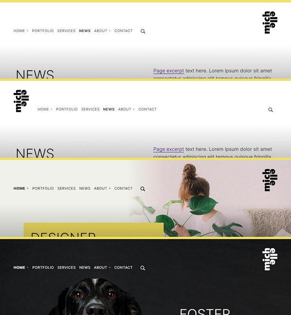 Michelle site header layouts