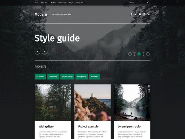 Modern - Portfolio WordPress theme