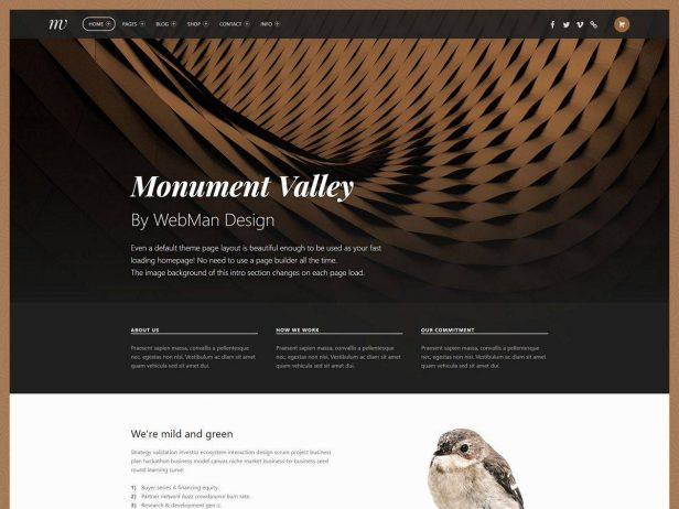 Monument Valley - Accessibility ready WooCommerce WordPress theme