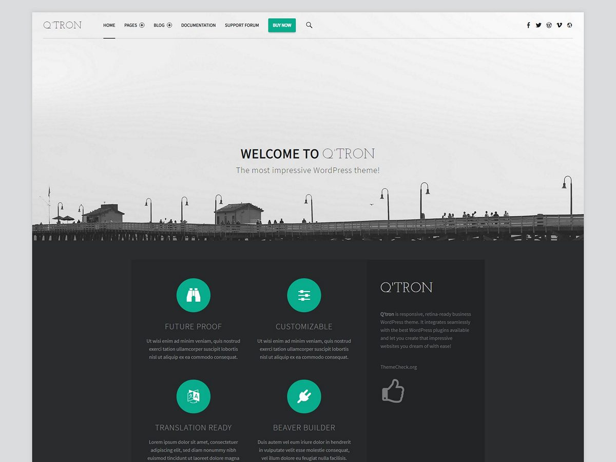 Q'tron - Business WordPress theme