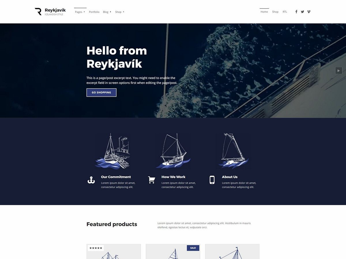 Reykjavik Accessible WordPress Theme by WebMan Design